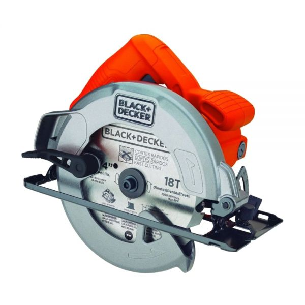 цена Дисковая пила 1400 Вт BLACK+DECKER CS1004-RU CS1004-RU онлайн в 2017 году