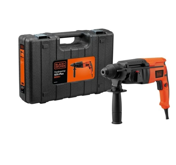 Перфоратор SDS+ BLACK+DECKER BDHR26KR, 800 Вт, 3 Дж